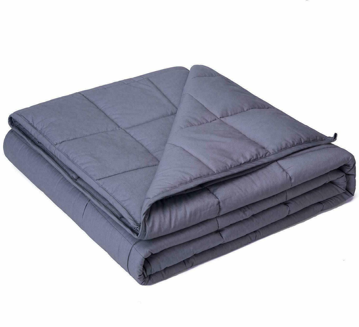 Queen Size Weighted Blanket 60''x80'' 15lbs Reduce Stress, A