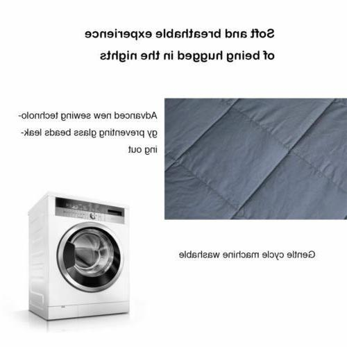 Weighted Blanket 100% Heavy for Adults with