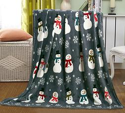 Ben&Jonah Let It Snow Collection Holiday Microfleece Throw B