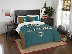 Miami Dolphins NFL Full/Queen Size 3 Pc Comforter and 2 Sham