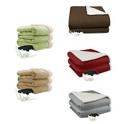 Biddeford Micro Mink and Sherpa Electric Heated Blanket Asso