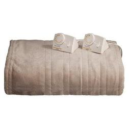 Biddeford Micro Plush Heated Blanket Taupe - Full