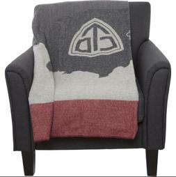 New $185 Woolrich Trail Series Continental Divide Wool Throw