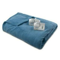NEW Biddeford Blankets Solid Microplush Electric Blanket - B