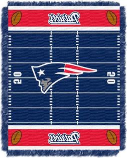 NFL New England Patriots Woven Jacquard Baby Throw Blanket