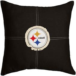 "NFL Pittsburgh Steelers Letterman Pillow, 18"" x 18"""