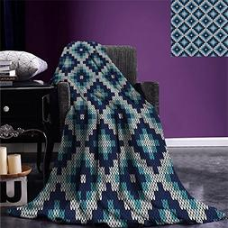 smallbeefly Nordic Lightweight Blanket Fair Isle Style Patte