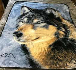 Northwest Throw Blanket Plush Reversible Wolf Wolves Cold St