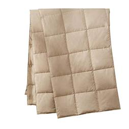 puredown Natural Down Packable Throw Sport Blanket for Indoo