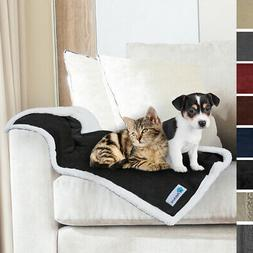 Pet Blanket for Small Medium Dog Puppy Cat Reversible Flanne
