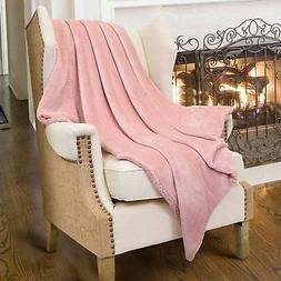 Catalonia Pink Sherpa Throws Blanket for Girls,Super Soft Co