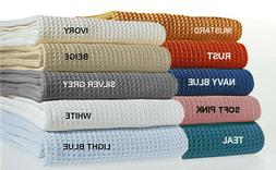 TreeWool, Cotton Woven Blanket for All Season, Soft, Warm an