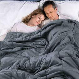 """Premium XL King Weighted Blanket 25 lbs """"86 x 92"""" Natural Co"""