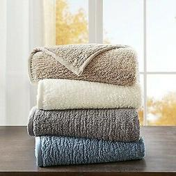 Woolrich Queen Berber Blanket With Grey Finish WR51-2212