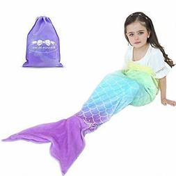 RIBANDS HOME Cozy Mermaid Tail Blanket for Kids and Teens So