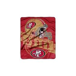 San Francisco 49ers NFL Grand Stand 50x60 Raschel Throw Plus