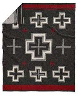 Pendleton San Miguel Knit Throw Blanket, Charcoal, One Size