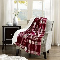Comfort Spaces Sherpa/Plush Throw Blanket for Couch - 50x60
