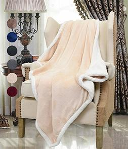 Catalonia Sherpa Throws Blanket,Reversible Fuzzy Comfy Micro