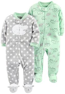 Simple Joys by Carter's Baby 2-Pack Fleece Footed Sleep and