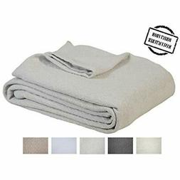 Soft Bed Blankets Premium Cotton - King Size Cozy All Season