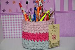 AES Small Storage Basket - Cute Cotton Rope Basket - Closet