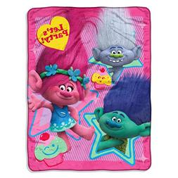 New Trolls Party Soft & Warm Super Plush Large Throw Blanket