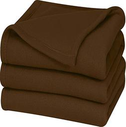 Polar Fleece Premium Bed Blanket - Extra Soft Brushed Microf