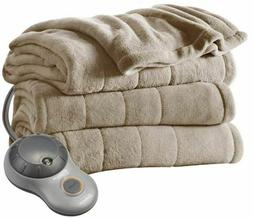 Twin Size Electric Heated Blanket Cozy Warm Extra-soft 10 He
