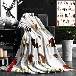 Ralahome Unique Custom Double Sides Print Flannel Blankets C