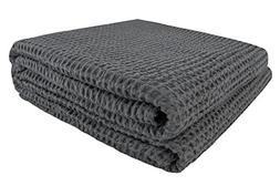 PHF Cotton Waffle Weave Blanket Perfect Bed Home Decor Twin