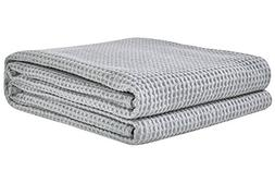 PHF Cotton Waffle Weave Blanket Lightweight and Breathable P