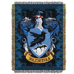 """Harry Potter, """"Ravenclaw Crest"""" Woven Tapestry Throw Blanket"""