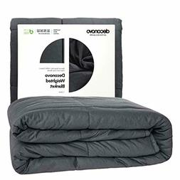 Deconovo Blanket-100%Cotton Heavy Blanket Filled with Glass