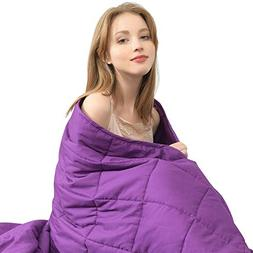"""Ourea Weighted Blanket Adult   20 lbs   60"""" × 80""""   Pur"""