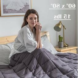 Weighted Blanket 80'' x 60'' Queen Size Reduce Stress 15lbs