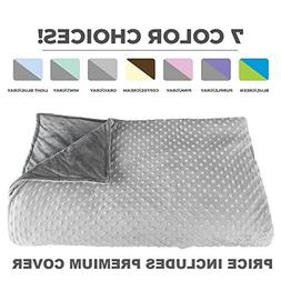 """Premium Weighted Blanket, Perfect Size 60"""" x 80"""" and Weight"""