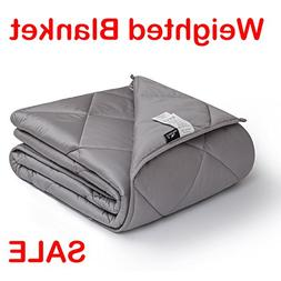 downluxe Weighted Blanket for Adult Woman and Man - 400TC Eg