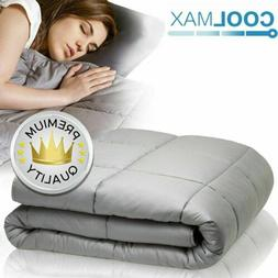 Weighted Blanket Queen Size 60''x80'' 20lb Reduce Stress Pro