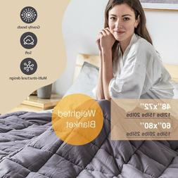 Weighted Blanket Sensory Anxiety Reduce Stress 12 15 lb 20 l