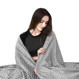 Weighted Gravity Blanket Cover Queen Size Reduce Anxiety Dee