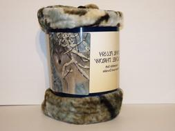 """Wolf in Snow Plush Throw Blanket """"Broken Silence"""" By Collin"""