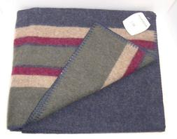 Woolrich Wool Blanket Throw 54 x 60 Striped Multi Color New