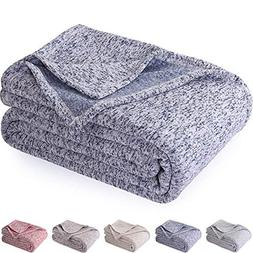kawahome Original Knit Blanket  Cozy Gradient Jersey Knitted