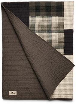 Woolrich Winter hills Luxury Quilted Throw Tan Gray 50x70