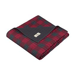 Woolrich Woolrich Check Luxury Quilted Throw Red 50x70   Pla
