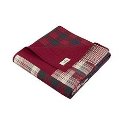 Woolrich Sunset Luxury Quilted Throw Red 50x70   Plaid Premi